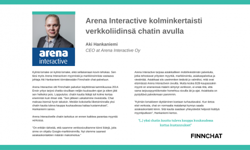 Finnchat-arena-interactive-case